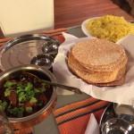 Papadam og indisk ris